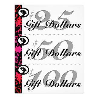 Salon Flyer Spa Gift Certificates Woman Colorful