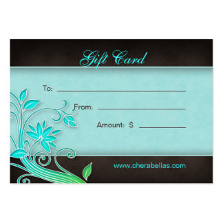 Salon Gift Card Spa Trendy Floral BG Business Card