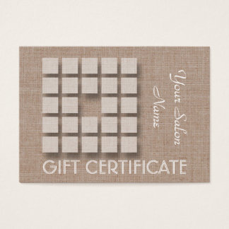 Salon Gift Certificate - Linen and Squares