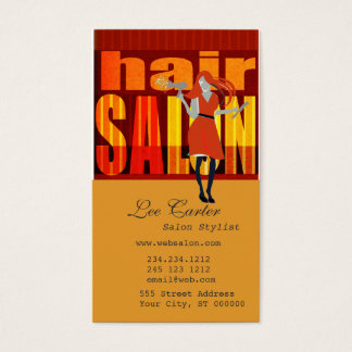 Salon Hairstylist Business Card