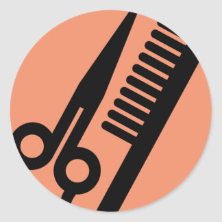 Salon Icon for hair stylists Classic Round Sticker