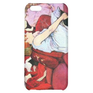 Salon in the Rue de Moulins by Toulouse-Lautrec iPhone 5C Cases