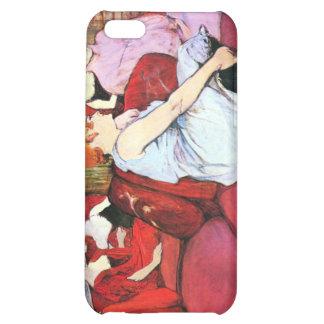 Salon in the Rue de Moulins by Toulouse-Lautrec iPhone 5C Covers