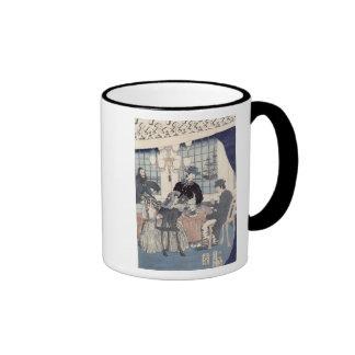 Salon of a house of foreign merchants at coffee mug