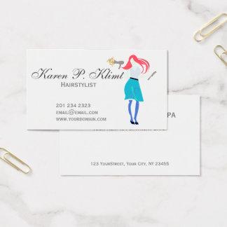 Salon Professional Red Head Hair Stylist Business Card