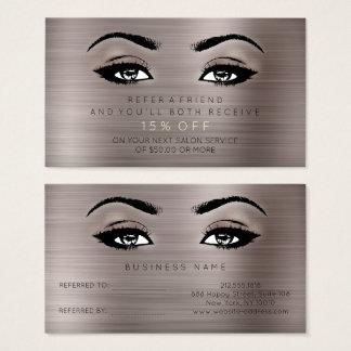 Salon Referential Card Lashes Makeup Caffe Noir