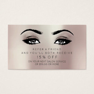 Salon Referential Card Lashes Makeup Rose Blush