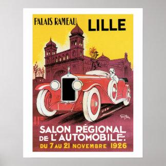 Salon Regional de L' Car Vintage Art Print Poster
