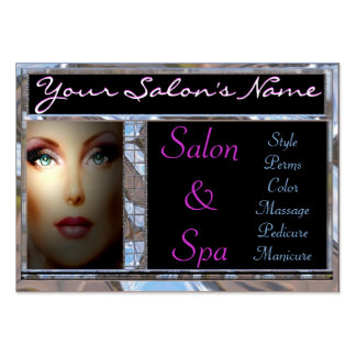 Salon/Spa Customizable Large Business Cards (Pack Of 100)