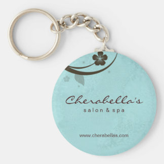 Salon Spa Floral Key Chain Gift watery blue