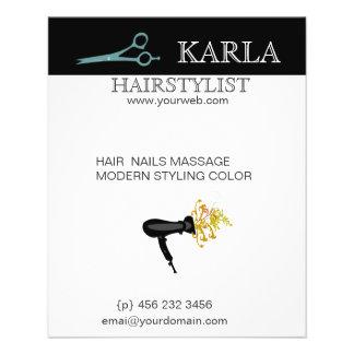 Salon Spa Hair Care Style HairDrier 11.5 Cm X 14 Cm Flyer