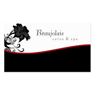 Salon Spa Massage Therapy Business Card Red