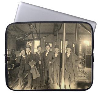 Saloon Bar Interior Men Man Cave 1890's Photo pub Laptop Sleeve