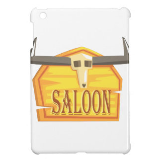 Saloon Sign With Dead Head Drawing Isolated On Whi Cover For The iPad Mini