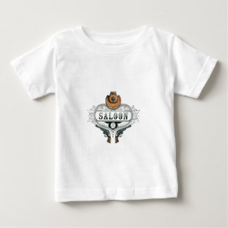 saloon vintage cowboy guns baby T-Shirt