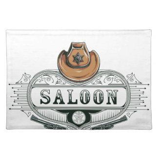 saloon vintage cowboy guns placemat