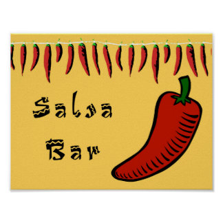 Salsa Bar Sign