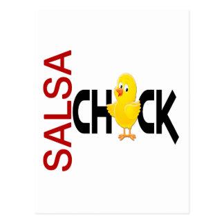 Salsa Chick Postcard