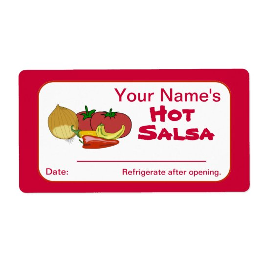 Salsa Custom Canning Jar Stickers Personalised