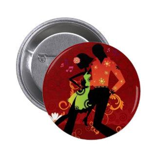 Salsa dance 6 cm round badge