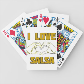 salsa dance design bicycle playing cards