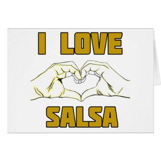 salsa dance design card