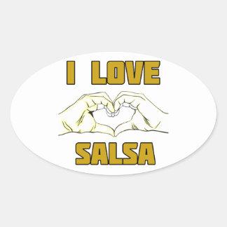 salsa dance design oval sticker