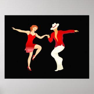 Salsa Dancers Dance Series Poster