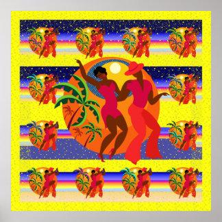 Salsa Dancers Poster Lg.