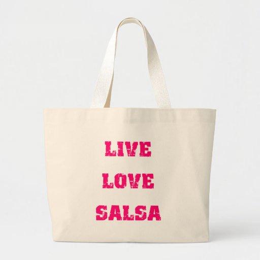 Salsa dancing canvas bag