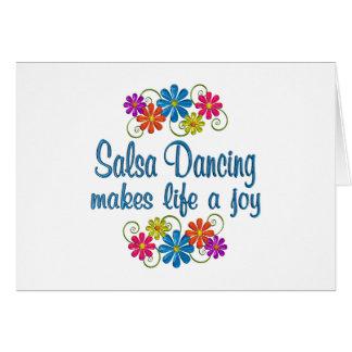 Salsa Dancing Joy Card