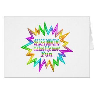 Salsa Dancing More Fun Card