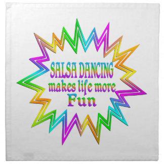 Salsa Dancing More Fun Napkin