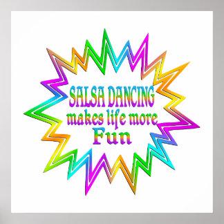 Salsa Dancing More Fun Poster