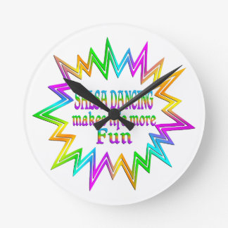 Salsa Dancing More Fun Round Clock