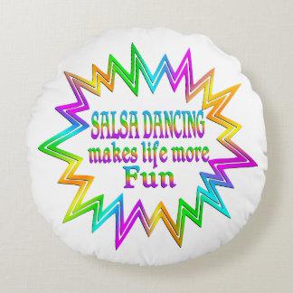 Salsa Dancing More Fun Round Cushion