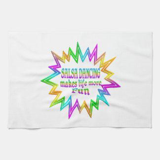 Salsa Dancing More Fun Tea Towel