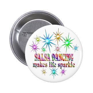 Salsa Dancing Sparkles 6 Cm Round Badge