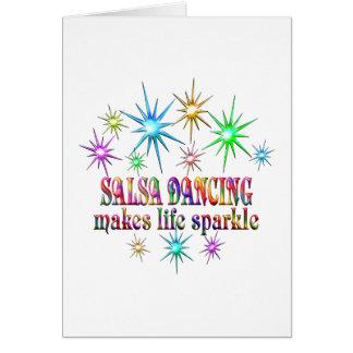 Salsa Dancing Sparkles Card