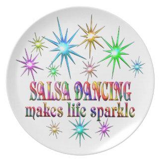 Salsa Dancing Sparkles Plate