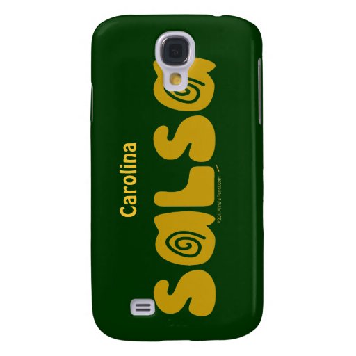 Salsa Dancing Swirls Custom Name iphone 3g Skin Galaxy S4 Case
