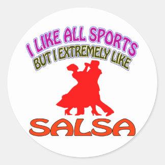 Salsa designs classic round sticker