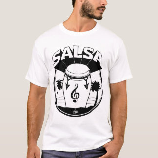SALSA DRUM b:w T-Shirt