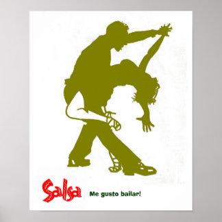 Salsa Gold Print! Poster