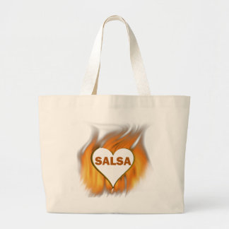SALSA HEART ON FIRE LARGE TOTE BAG