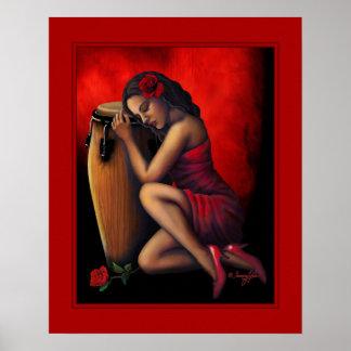 Salsa Heartbeat Poster