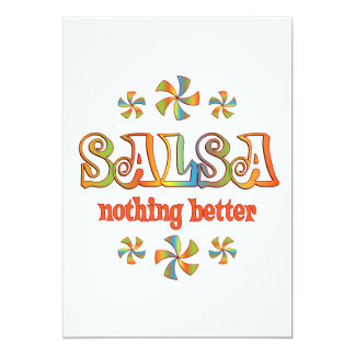 """Salsa Nothing Better 5"""" X 7"""" Invitation Card"""