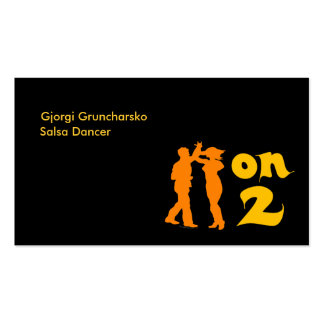 Salsa On Two Dancer or Instructor Business Cards