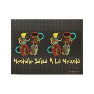 SALSA POSTER, i Art and Designs Wood Poster