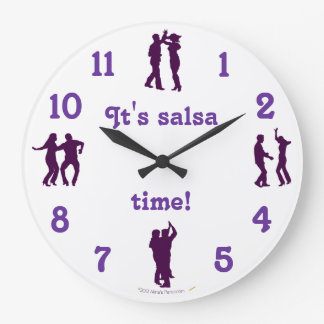 Salsa Time Dance Poses  Wall Clock With Numbers